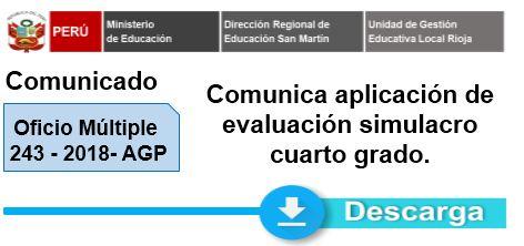 Aplicación de evaluación simulacro cuarto grado